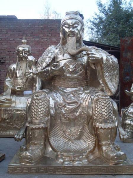 铜雕关公摆件 大型铜关公 铸造铜关公