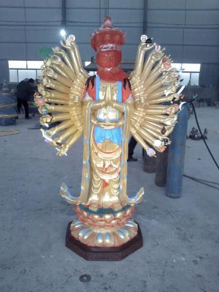 开光千手观音雕塑 铸造千手观音雕塑