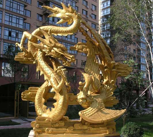 铜雕龙加工厂 铸造铜雕龙 铜龙摆件