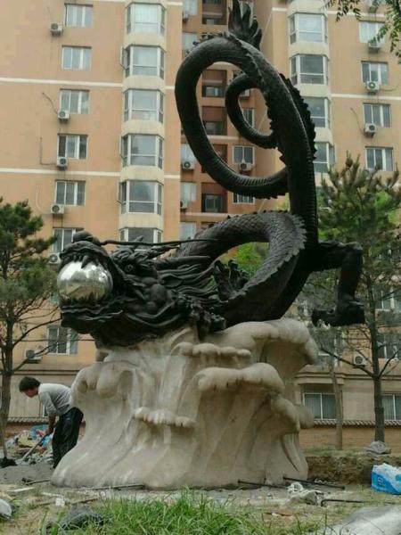 铜龙雕塑 10米长铜龙 铜龙摆件