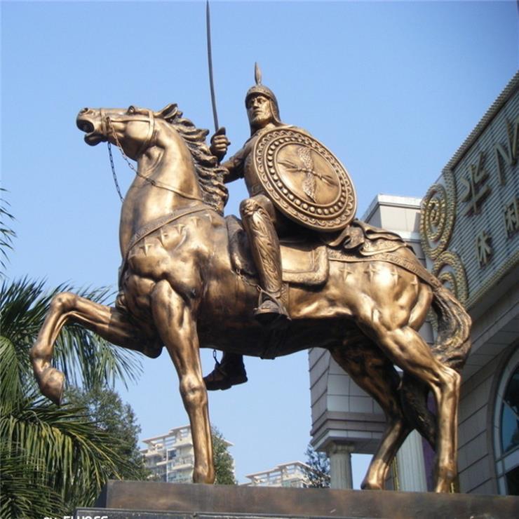 人騎馬雕塑 銅馬圖片大全 進忠銅雕馬公司