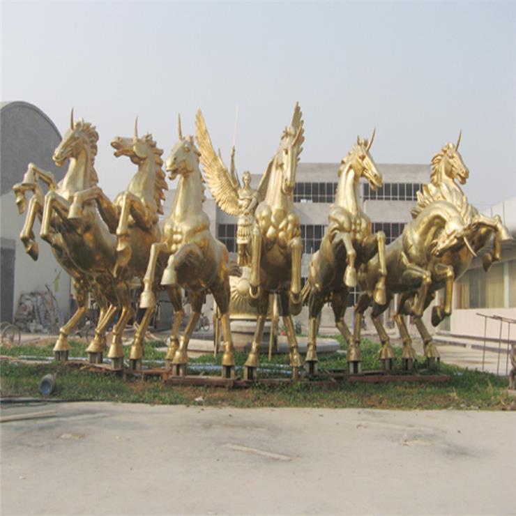 銅雕馬雕塑 鎏金馬雕塑 馬踏飛燕