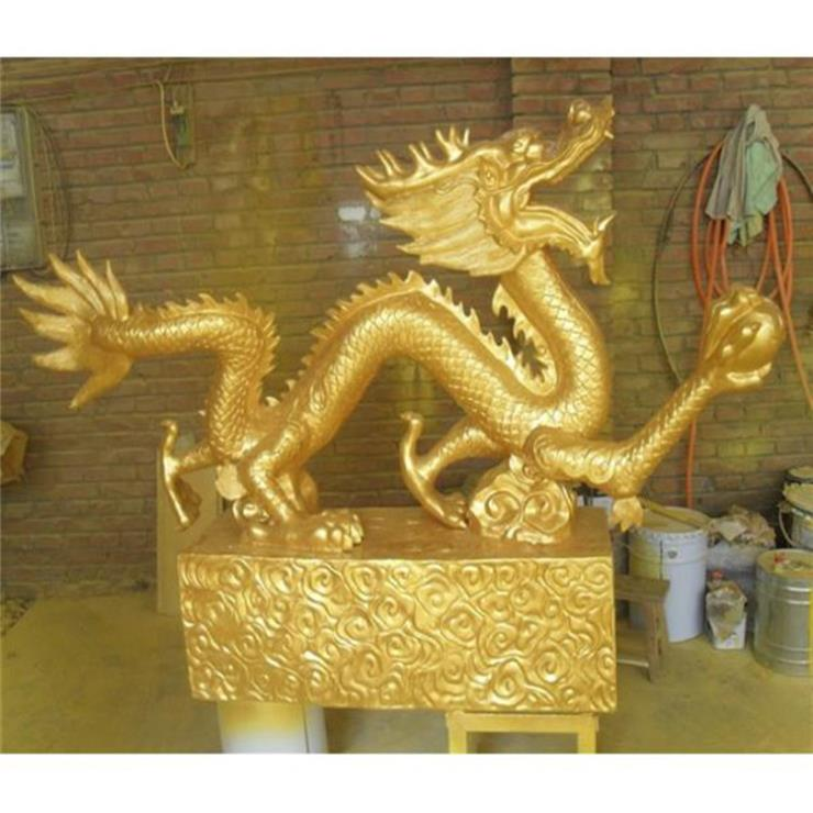 純銅龍擺件 銅龍價格 進忠銅雕龍廠家