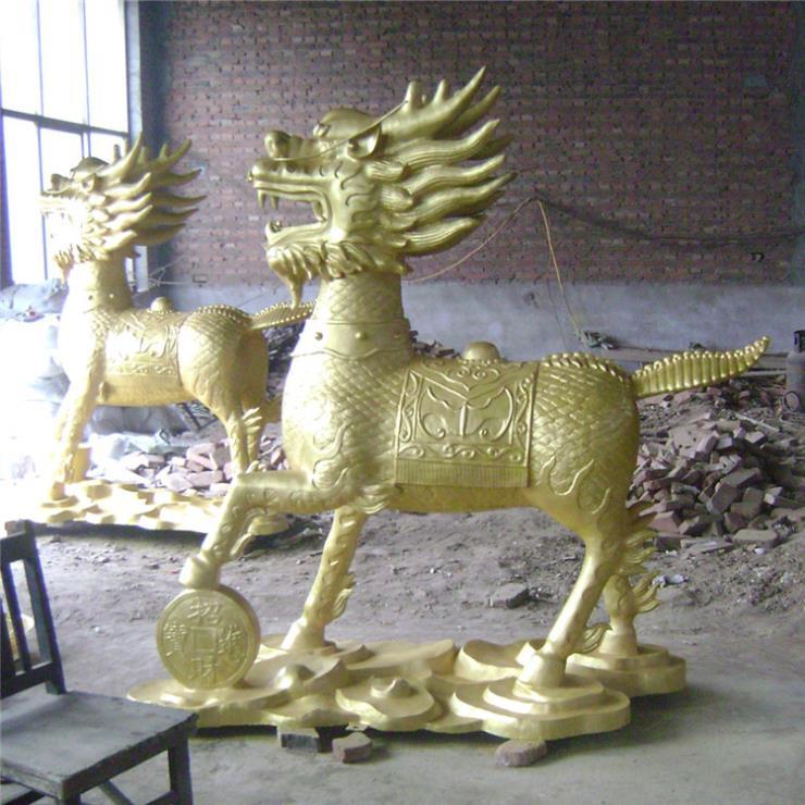 銅制火麒麟雕塑 廠家批發銅麒麟雕塑