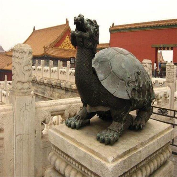 铜龙龟葫芦雕塑 纯黄铜龙龟加工厂家