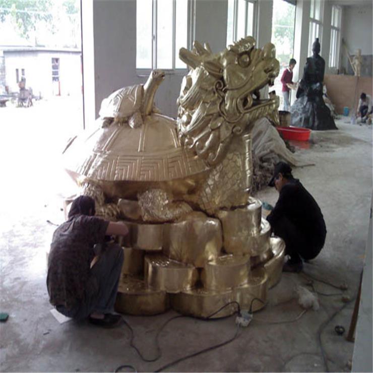 铸铜龙龟雕刻 铜龙龟工艺品厂
