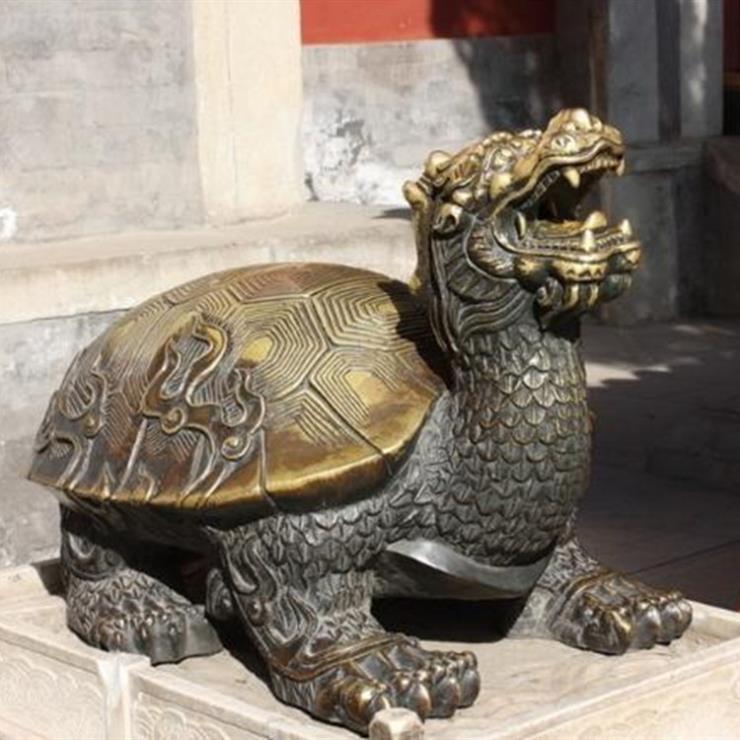 铜龙龟摆件 铜龙龟加工价格 进忠铜龙龟厂家