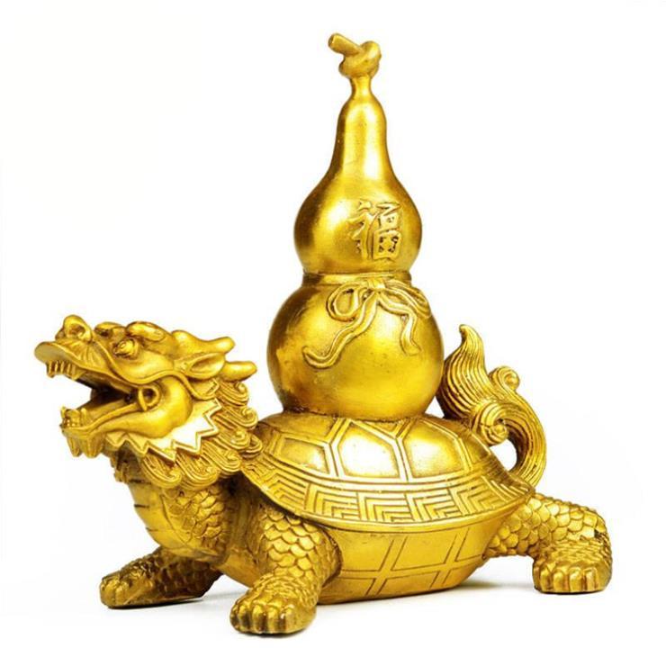 铜龙龟葫芦雕塑 1.5米铜龙龟定制厂家