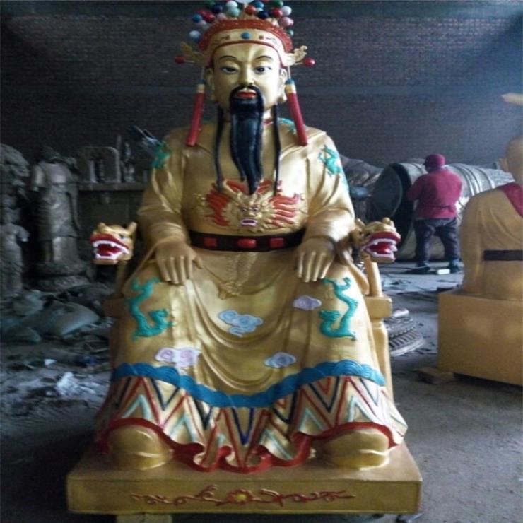 寺廟佛像龍王雕像銅雕價格 進忠銅雕廠