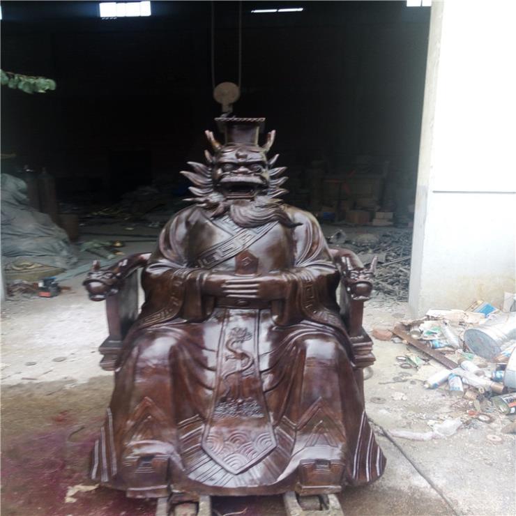 鑄造黃銅龍王佛像 寺廟銅佛像加工廠