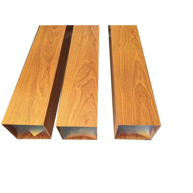 厂家现货供应50*100木纹转印铝方通 室内室外立面隔断方通