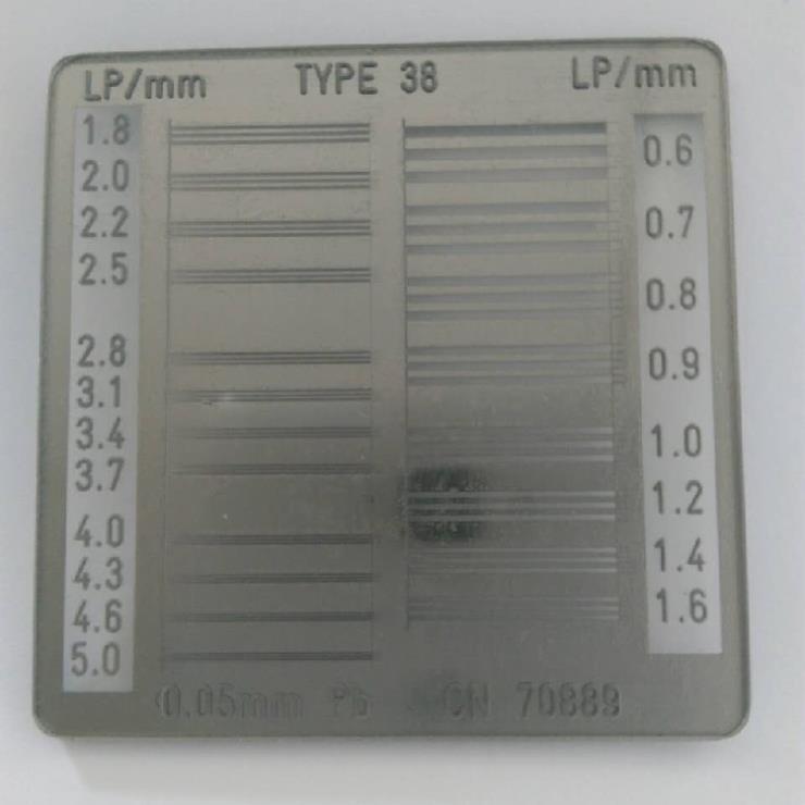 空间分辨率测试卡 产品的其他名称:线对卡 38型线对卡