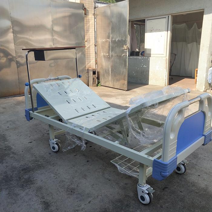 厂家供应病床 多功能病床 康之星手动双摇血透病床