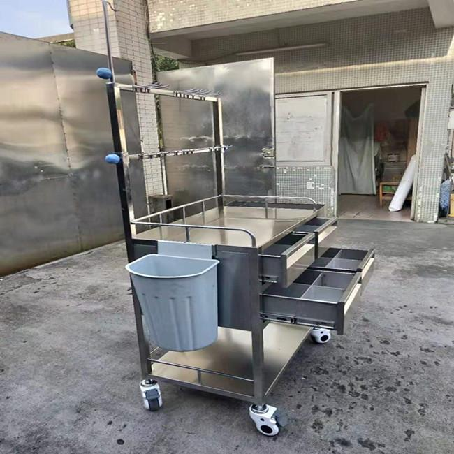 厂家供应医用推车 康之星定制不锈钢治疗车