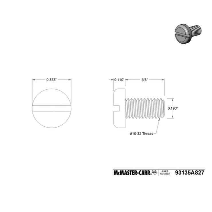美国McMaster carr进口尼龙螺丝92942A751