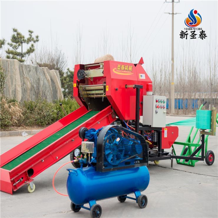 惠山秸稈青儲打包機哪里有賣的嗎經久耐用