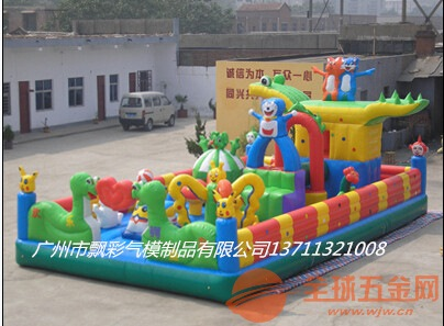 广东充气迪士尼城堡批发充气水池充气迪士尼弹跳床