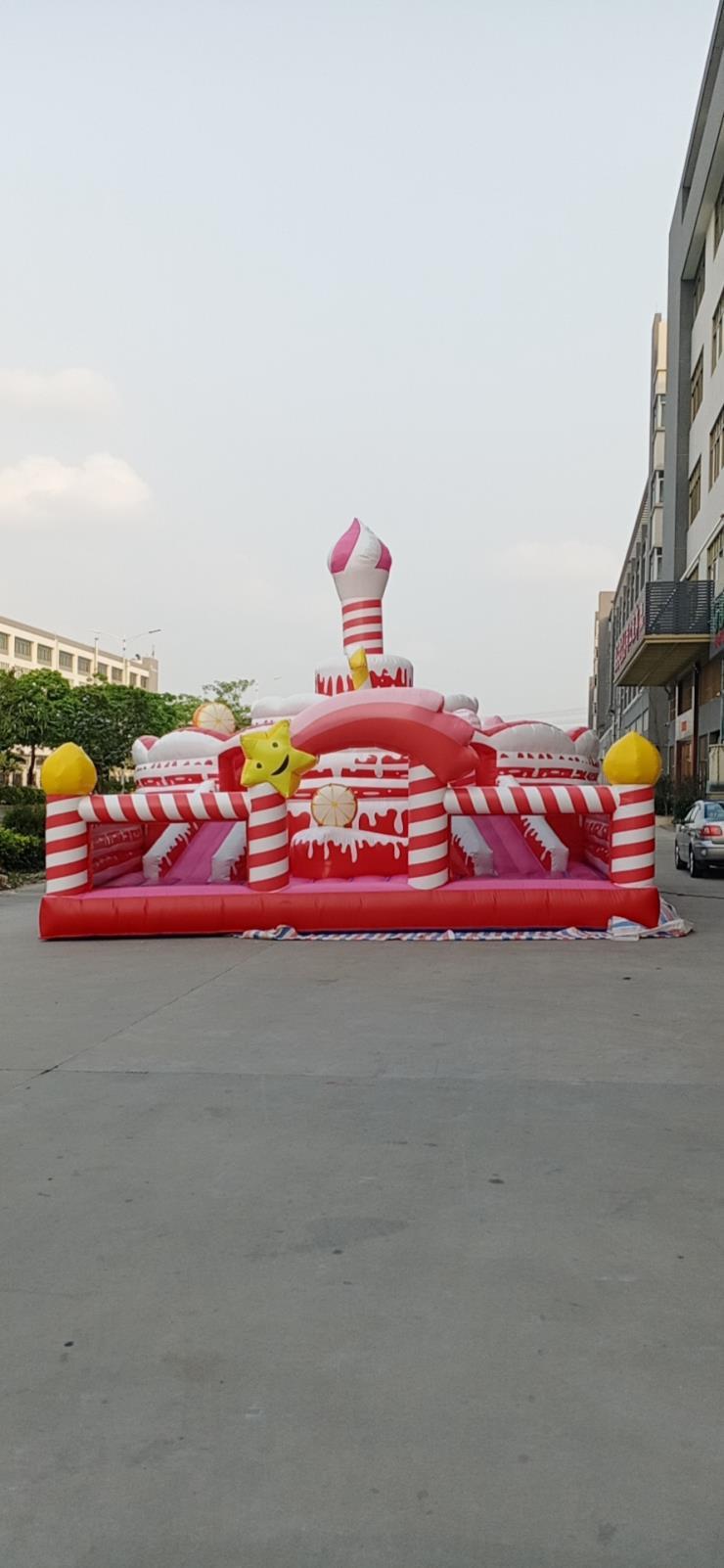 大型定制网红城堡批发速开折叠自动儿童乐园商场引流