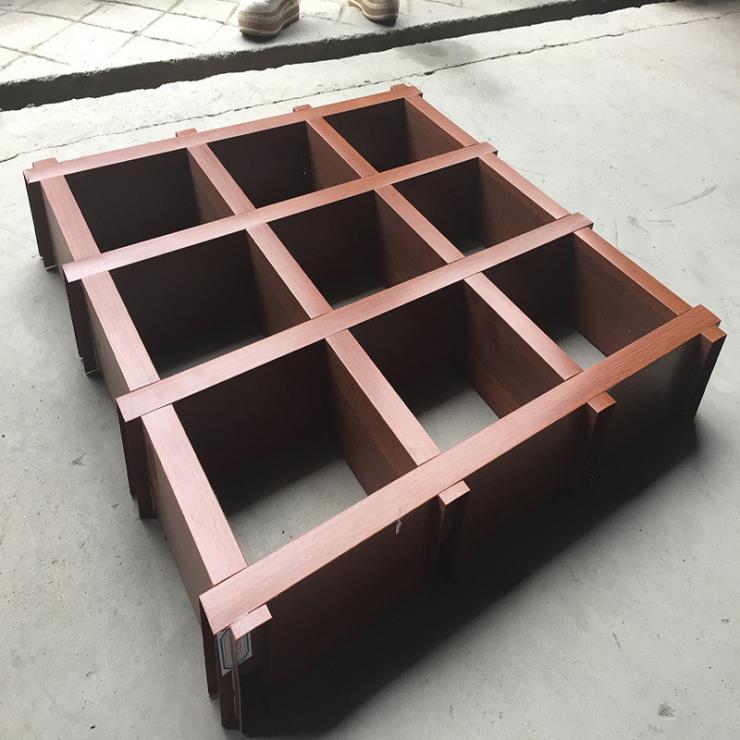 喷涂铝格栅吊顶 豪亚铝格栅 铝格栅尺寸 滚涂铝格栅定制
