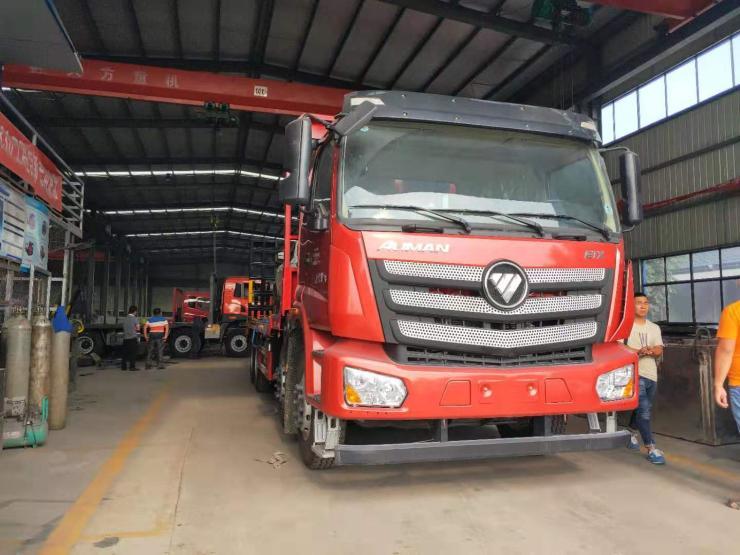 江淮平板运输车X拉挖机平板车拉30吨设备的挖掘机拖板车