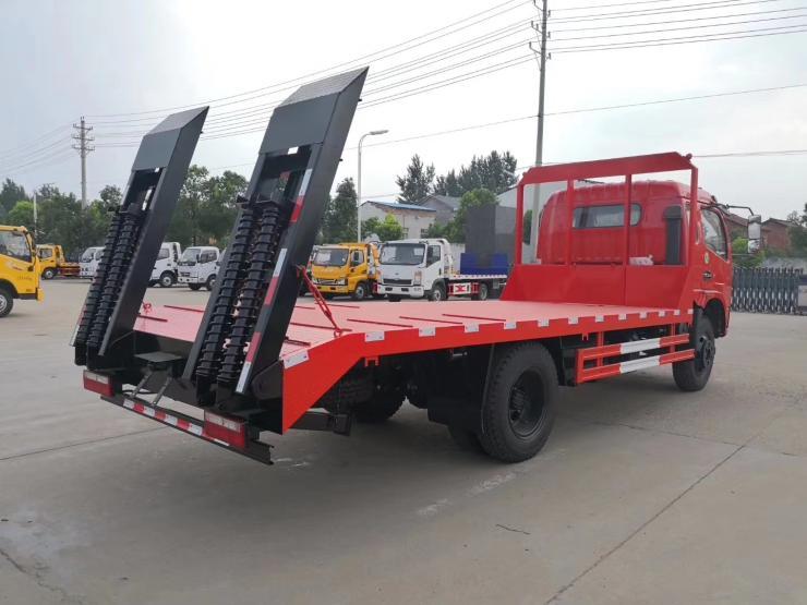 东风平板运输车平板车挖机国六压路机运输车