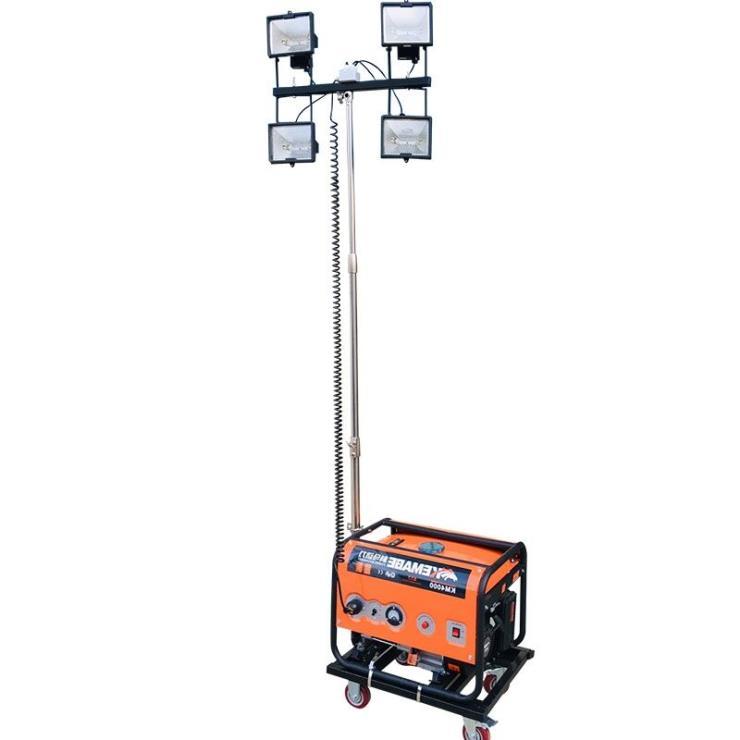 不锈钢手动升降移动照明车汽柴油手动升降照明车