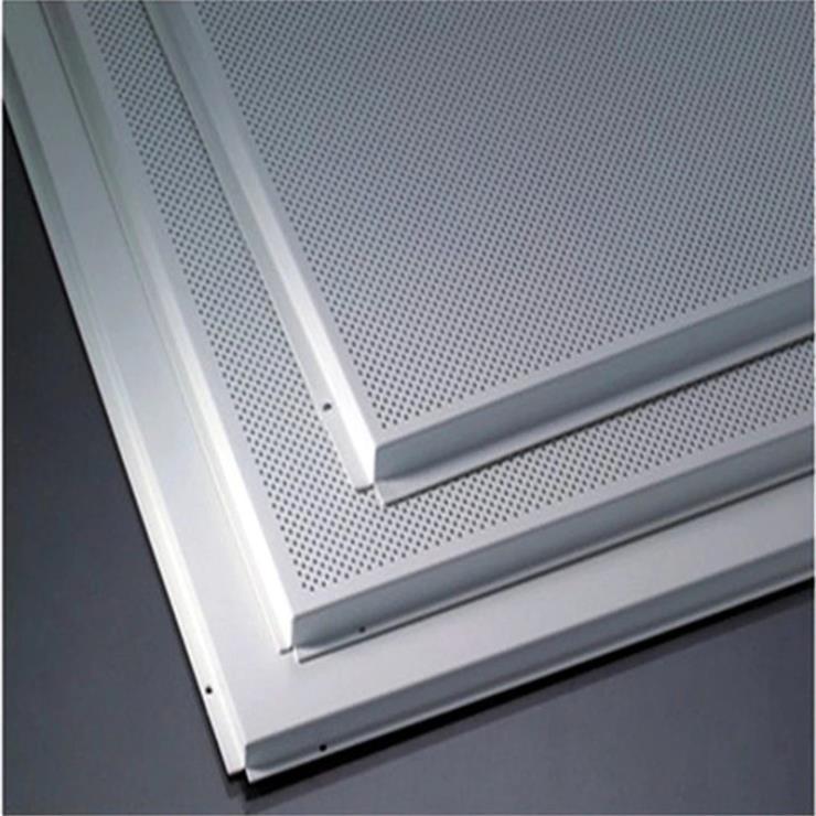 集成吊顶600*600规格3003系列抗菌微孔吸音铝扣板吊顶天花