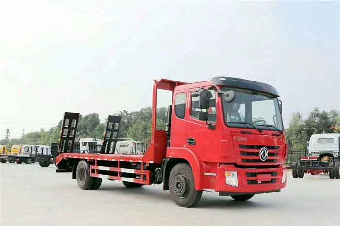 国六挖机平板拖车厂家 拉200挖机拖车价格