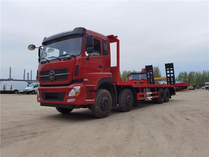 国六12米车长的顶管机运输车、压瓦机平板拖车厂家直销