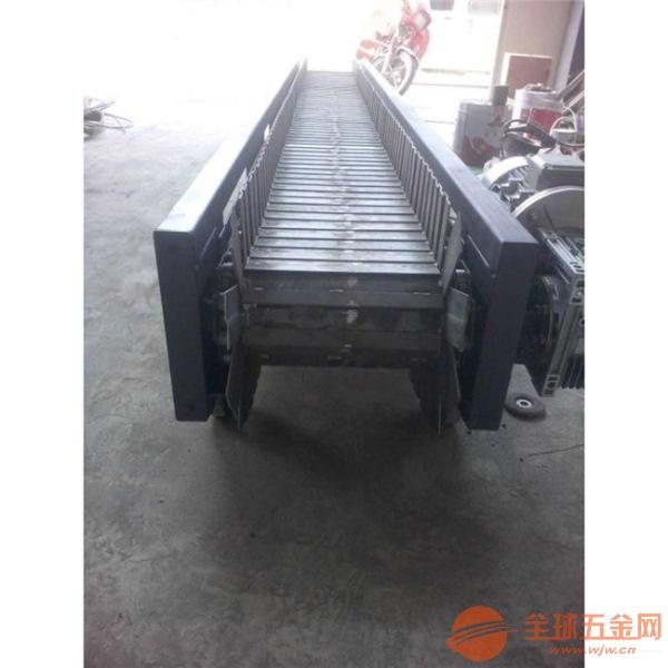 鏈板式輸送線原理圖 鐵件運輸鏈板輸送機調試廠家 LJ