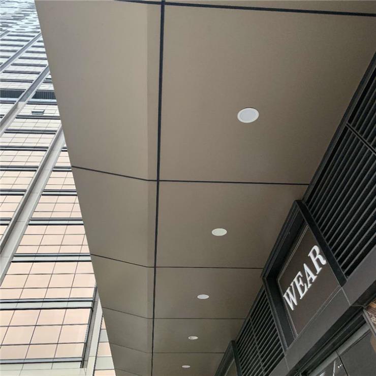 展览馆雨棚铝单板 门头遮阳铝板