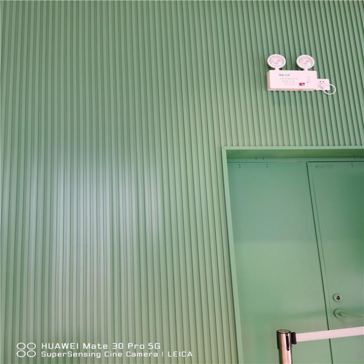 河北半圆波浪板大型购物商场包柱护墙装饰铝板