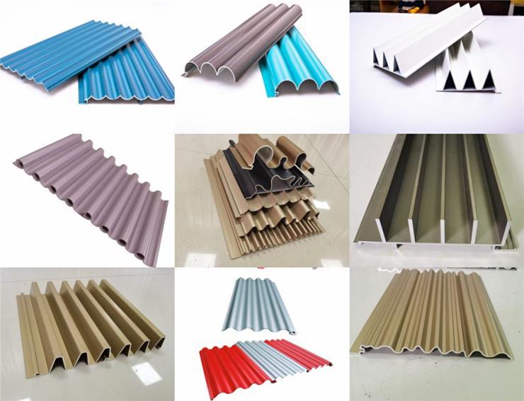 门头铝合金长城板,定制波浪墙体铝板款式