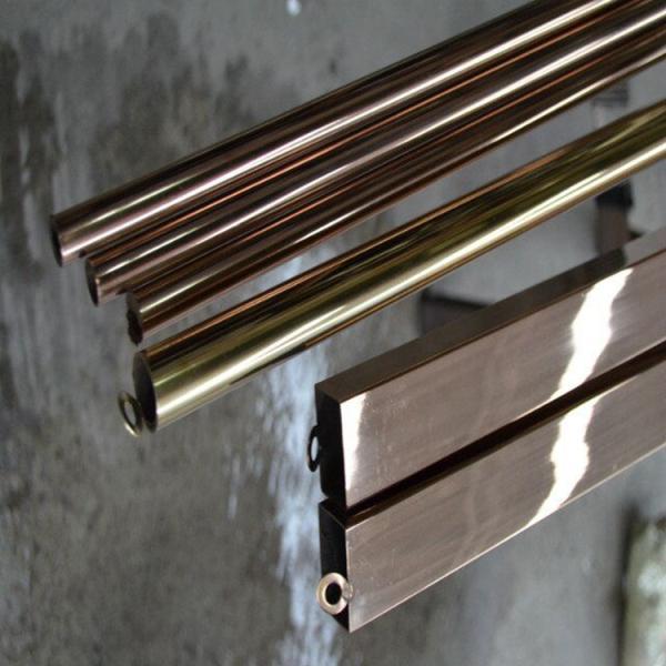 201玫瑰金不锈钢圆管外径6*0.5毫米