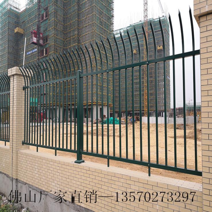 东莞市政喷塑铁艺护栏批发 学校防锈围栏 栅栏围墙包安装