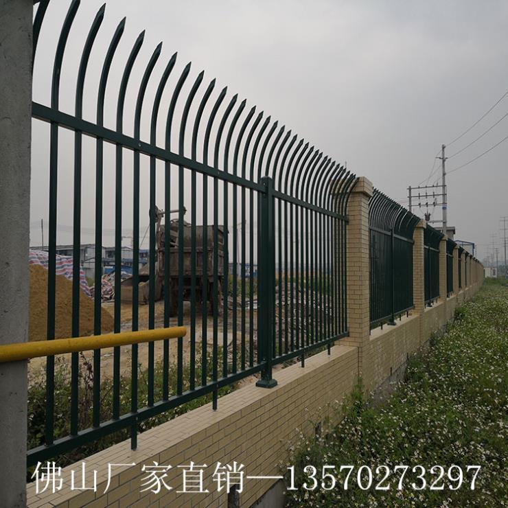 供应学校专用围墙护栏 惠州小区镀锌喷塑栏杆 栅栏