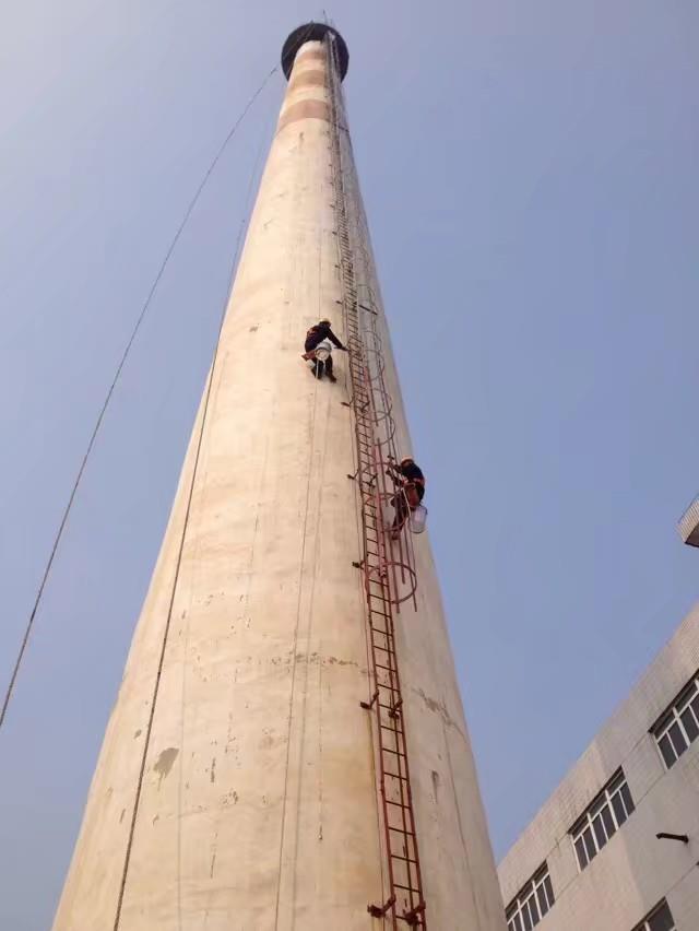 黔南烟囱钢斜梯安装公司精英团队安全工艺