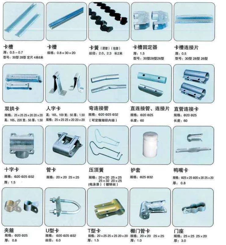 云南大棚管销售怎么做配件种类