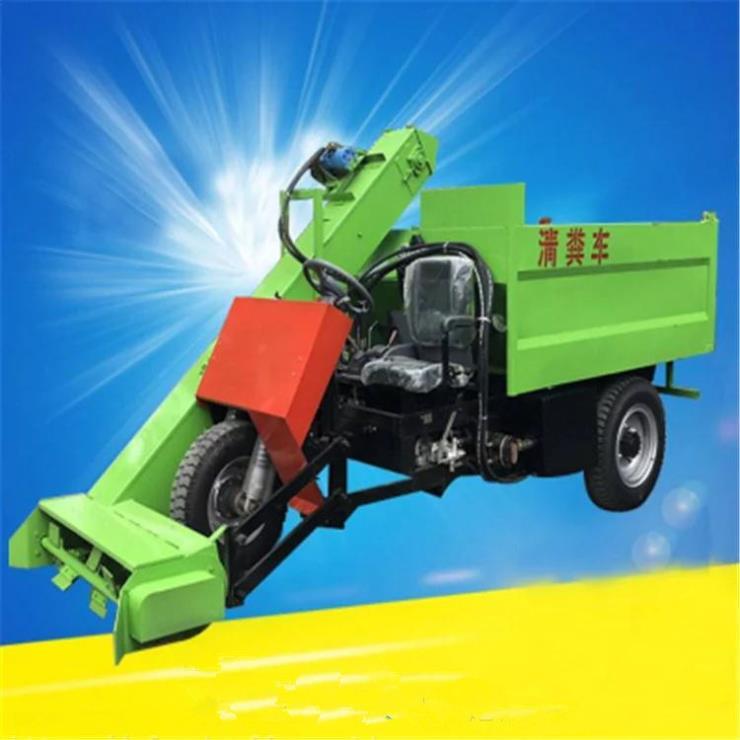 牛棚圈舍地面自动除粪车 刮板式三轮清粪车