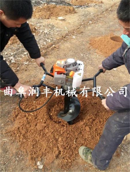 重庆手提汽油挖坑机 手持式汽油动力地钻机