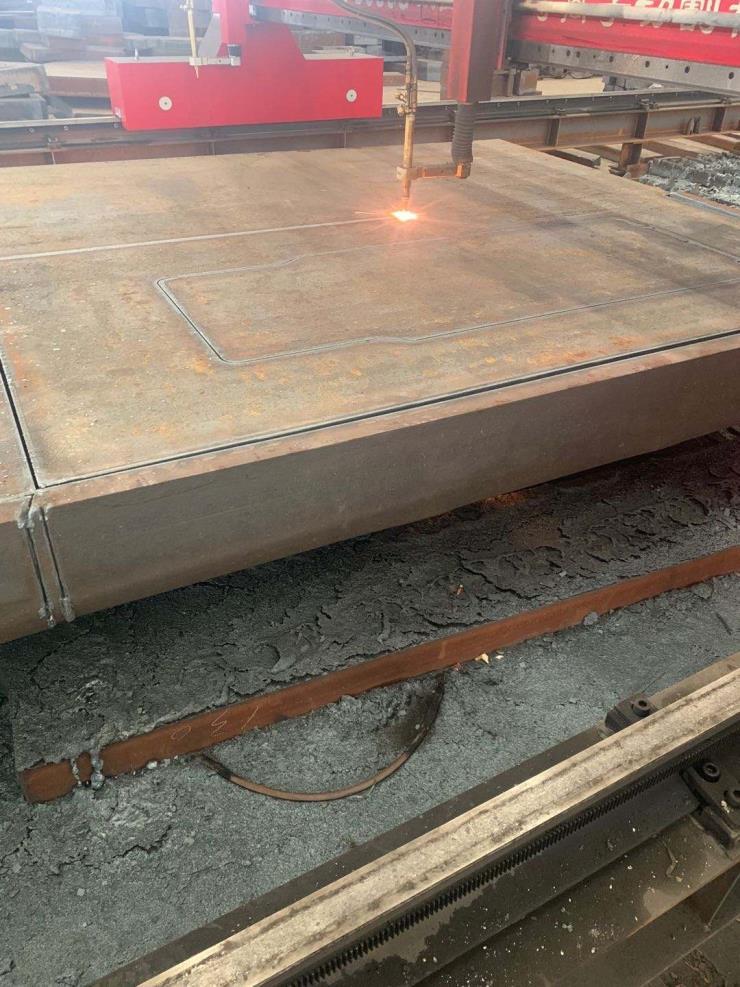 莱阳钢板切割支架半成品