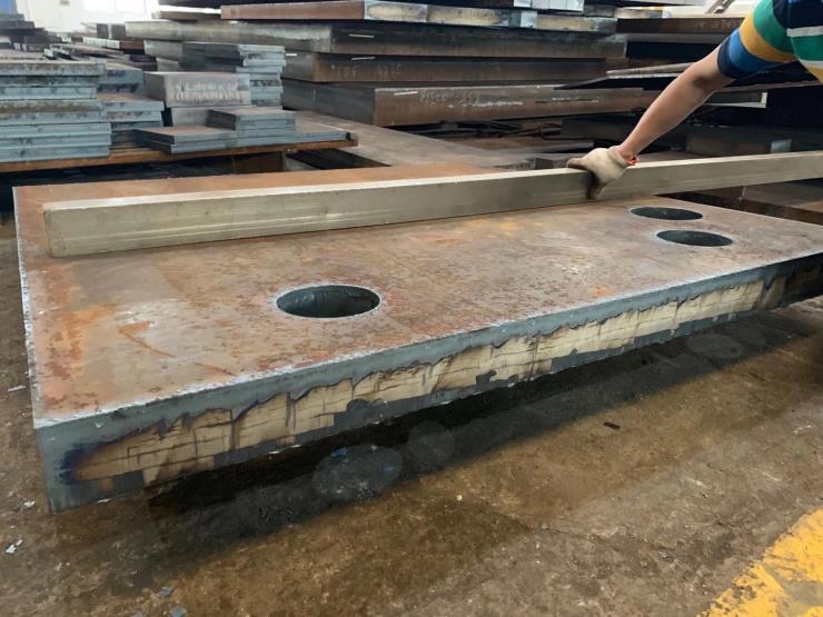 宁波特厚钢板切割45钢 q235 q345 40cr