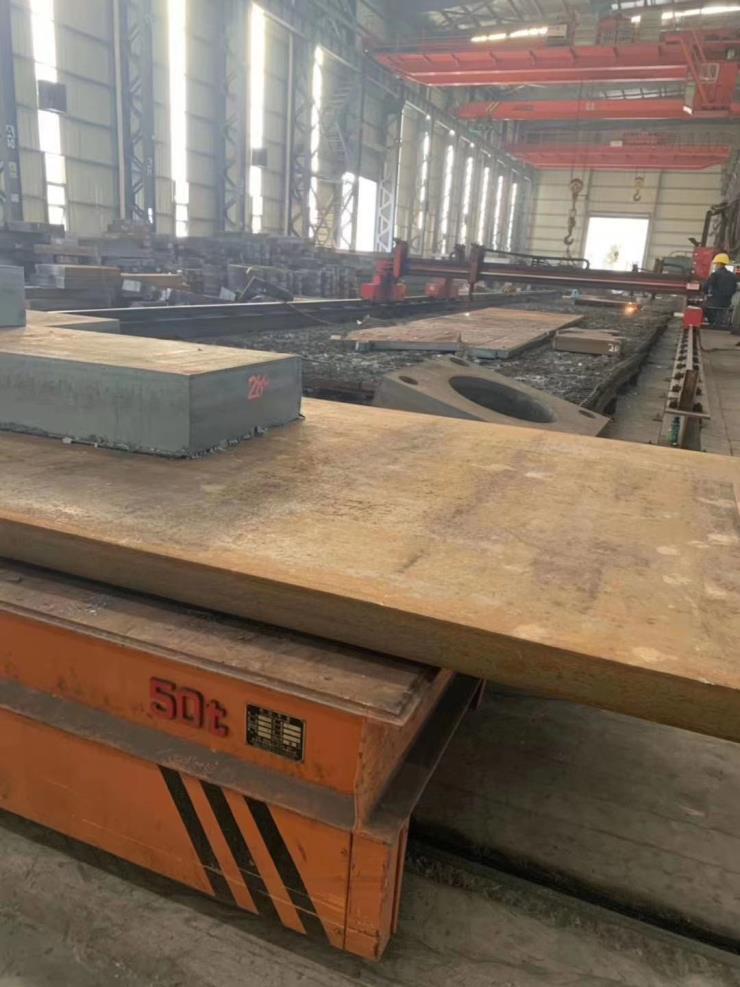 钢板切割圆环法兰切割件方块预埋件钢板等