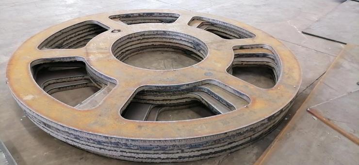 钢板数控火焰切割图形,轴承座,法兰盘连接板等