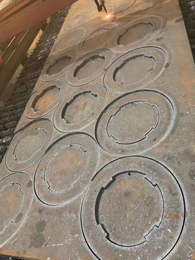 钢板割图形割矩形图形件异形件下料数控切割加工余量小