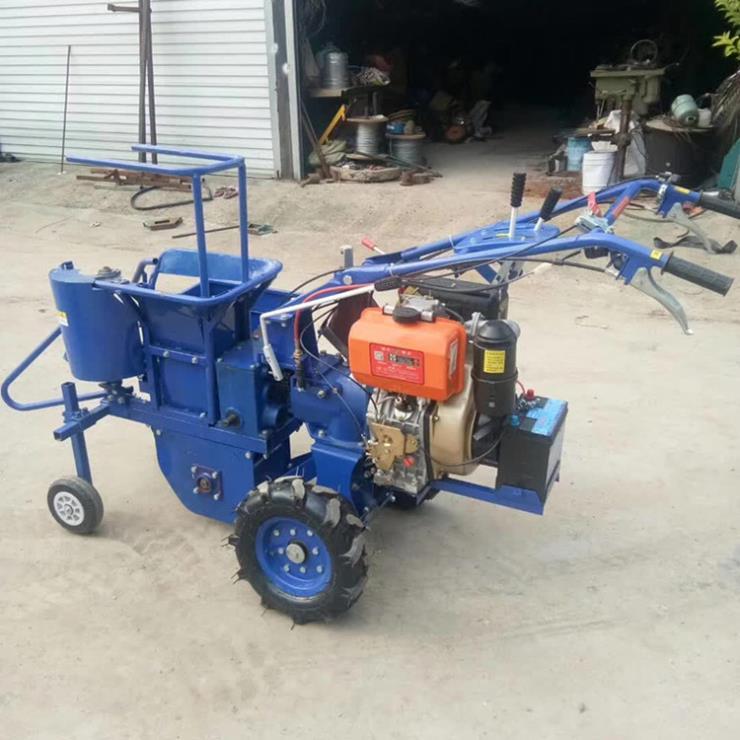 柴油手扶玉米收割機手推式玉米收獲機