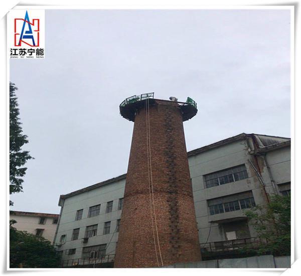 還是這里好!濱州人工拆除磚煙囪,50米煙囪