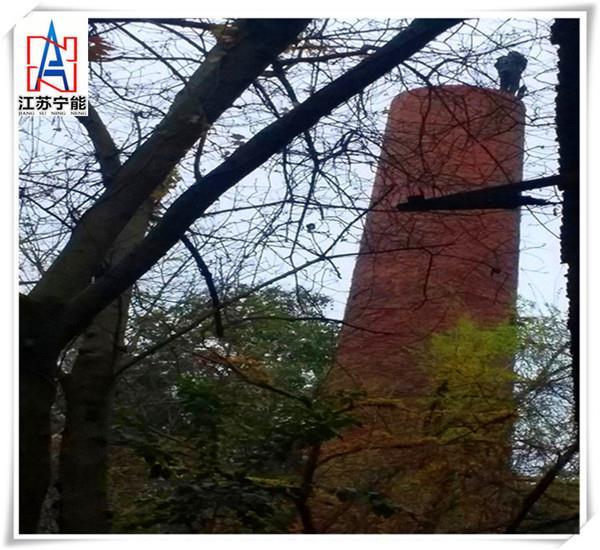 有图有真相,许昌化工厂烟囱拆除