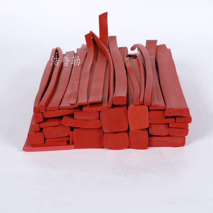 硅胶扁条 防水密封条 防撞发泡硅胶条 耐高温密封条