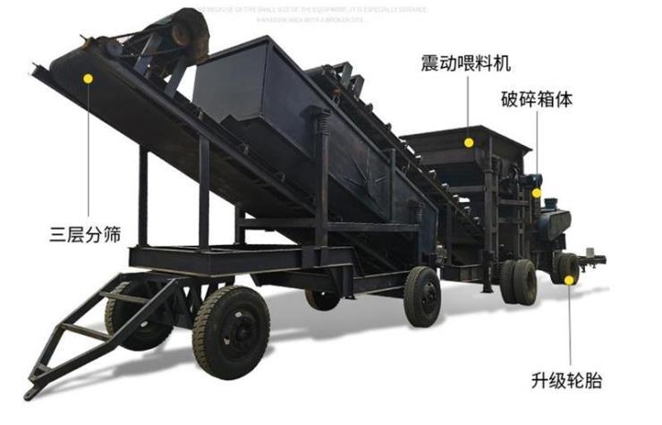移動錘式制砂機/移動制沙機機械設備